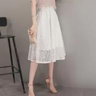 高腰网纱蓬蓬裙
