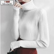 丫凝时尚高领打底针织毛衣