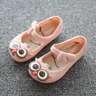 儿童猫头鹰果冻凉鞋