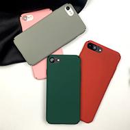 iPhone纯色磨砂手机壳