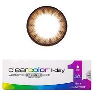 可丽博clearcolor1-day日抛彩色隐形眼镜5片装 琥珀棕CL215