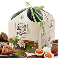 老金磨方粽子礼盒 粽子+咸鸭蛋