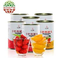 汇尔康 黄桃&草莓罐头425g*6罐