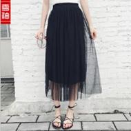 春夏网纱半身裙