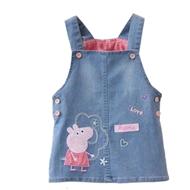 小猪佩奇女童背带牛仔裙