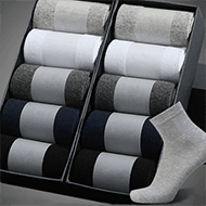男士中筒袜商务防臭吸汗纯棉短袜