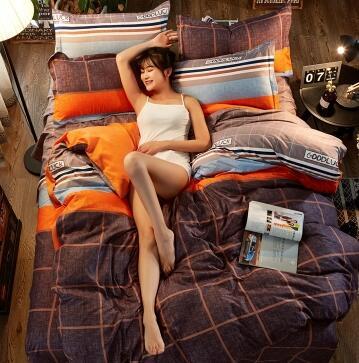 简约床上四件套送枕芯2个或毛毯2条