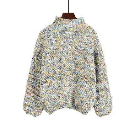 曼特裘冬季新款彩色毛衣