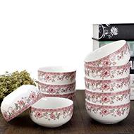 靓影中式陶瓷碗10只套装
