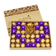 糖果巧克力心形礼盒装