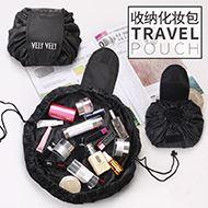 懒人化妆包大容量抽绳收纳袋