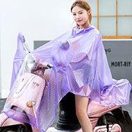 双帽檐加大加厚自行车电动车雨衣