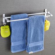 免打孔太空铝浴室毛巾架