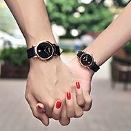 绅度头层牛皮带情侣手表