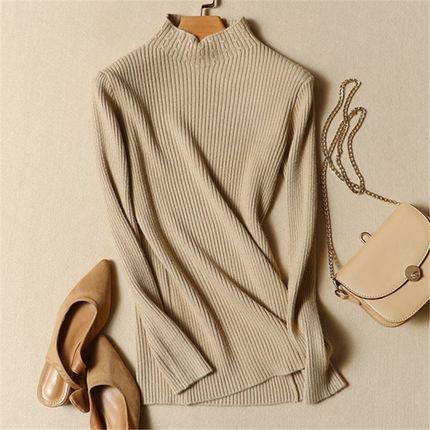 半高领毛衣女套头长袖打底衫