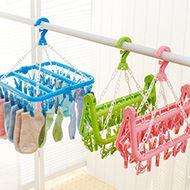 折叠防风晾衣架塑料衣架