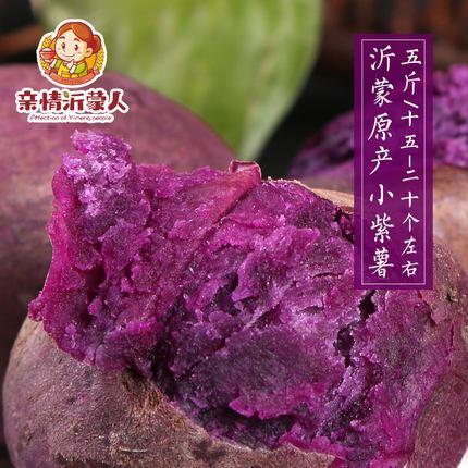 5斤临沂小紫薯新鲜现挖番薯