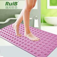 无味浴室带吸盘按摩脚防滑垫