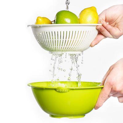生活谷双层塑料洗菜盆6个装