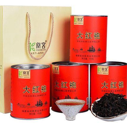 阅客武夷岩大红袍茶叶1罐100g礼盒