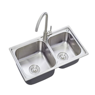 箭牌卫浴304不锈钢水槽双槽套餐