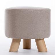 家逸实木布艺小凳子