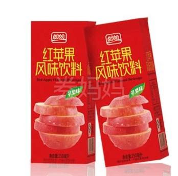 盼盼红苹果果汁饮料250ml*24盒