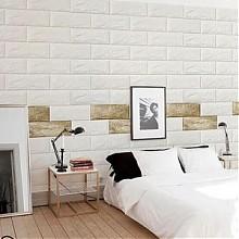 换个风格# 防水自粘3d立体砖纹墙纸