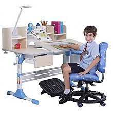 值友专享:心家宜 M102-M210 儿童手摇同步升降学习桌椅套装