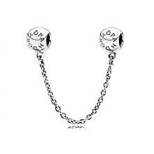 PANDORA LOGO标志圆形925银安全链 791877-05