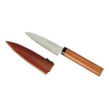 凑单品:KAI 贝印 不锈钢水果刀 木柄带刀套 DH-7173