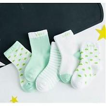 妙优童 儿童纯棉袜 5双装