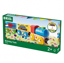 BRIO 火车系列 生日庆典火车模型玩具 榉木材质