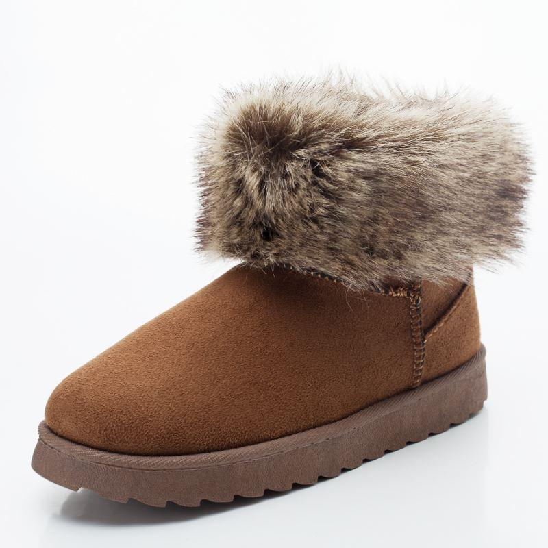 新款加绒加厚雪地靴 增高