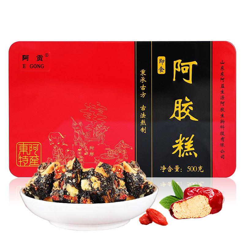 正宗东阿红枣枸杞阿胶糕500g