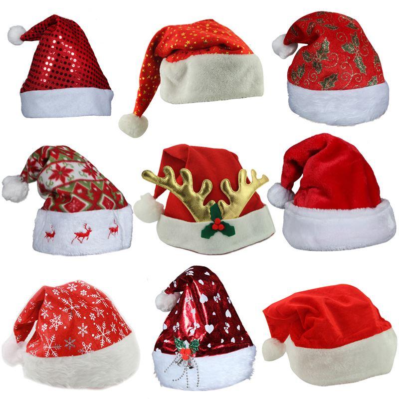 红色圣诞老人帽子 装扮头饰