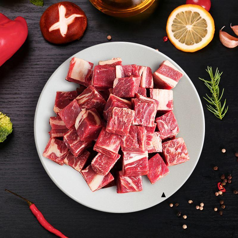 新鲜生牛肉1000g冷冻批发红烧牛腩