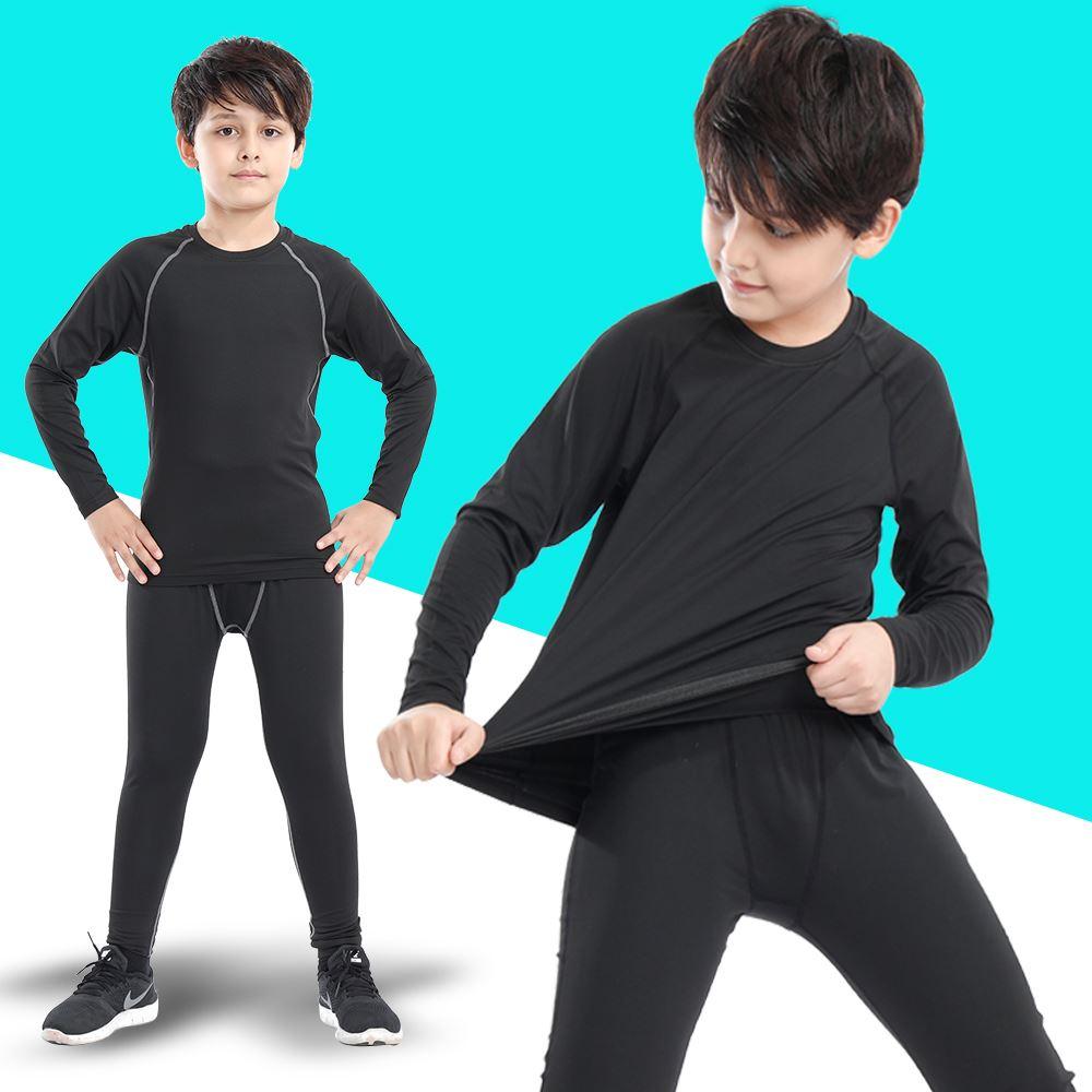 儿童弹力速干紧身运动训练健身服