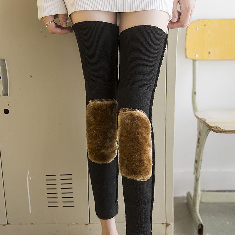 冬季加绒加厚保暖护膝一双