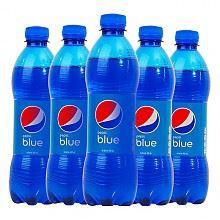 百事网红可乐蓝色可乐450ml*5瓶