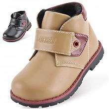 迪士尼 Disney 男童学步皮鞋 儿童靴子保暖休闲鞋