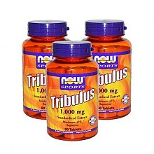 NOW 诺奥 Tribulus 蒺藜皂甙胶囊 1000mg*90粒*6瓶