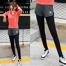 运动也时尚# 哈尔佳 假两件弹力运动紧身裤