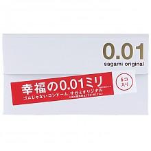Sagami 相模原创 0.01mm 安全套 5片装 可299-50叠加299-100
