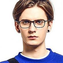 HAN HD49100时尚光学眼镜架 1.56蓝光镜片