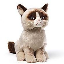 GUND Grumpy Cat  暴躁猫 毛绒动物玩具  23cm