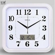 铂晨 方形挂钟 12寸