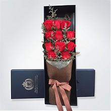 大拇指玫瑰花礼盒装11朵