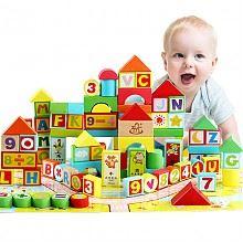 巧之木儿童木质积木玩具160粒