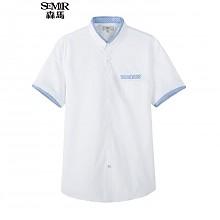 森马男式修身短袖衬衫
